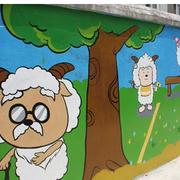 现代幼儿园壁画效果图