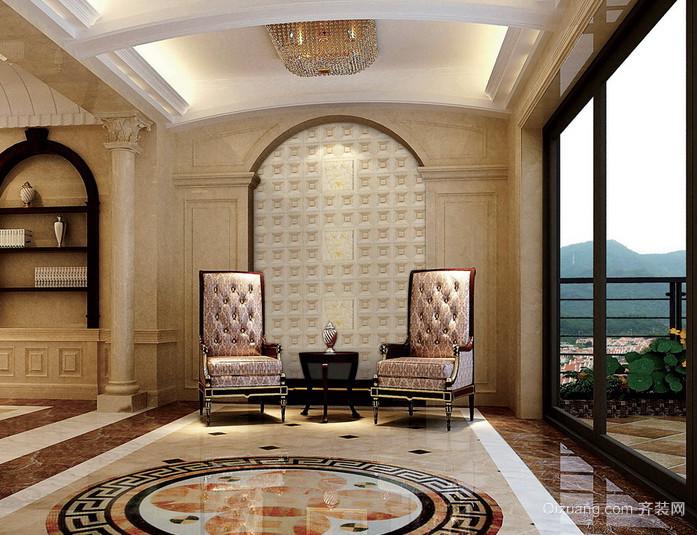 精美欧式石材客厅电视背景墙