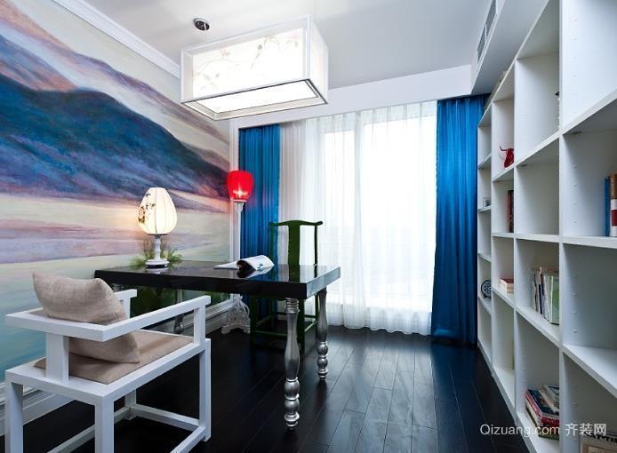 地中海式家居书房装修装饰效果图