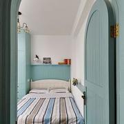 地中海风格榻榻米床装修卧室图