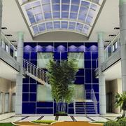大厅形象墙设计装修吊灯图