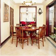 美式风格酒柜装修桌椅图