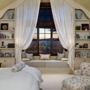现代飘窗窗帘设计图