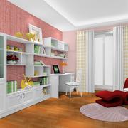 书房设计装修窗帘图