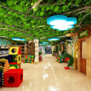 儿童游乐园吊顶效果图