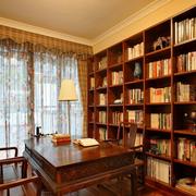 美式田园风格书房装修飘窗图