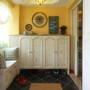 小户型家庭鞋柜装修色调搭配