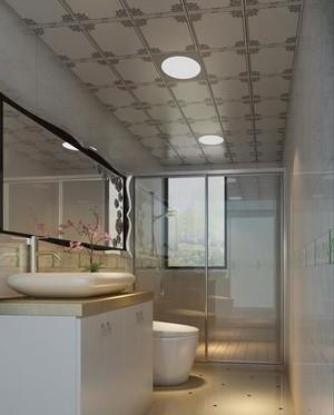 功能性超强的小卫生间铝扣吊顶装修效果图
