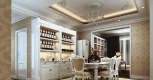 奢华的法式餐厅吊顶装修效果图鉴赏