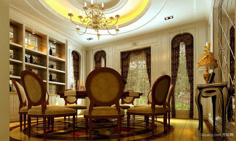 漂亮的欧式风格餐厅吊顶装修效果图鉴赏