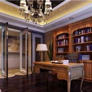 欧式风格书房装修吊顶图