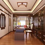 中式风格书房装修吊顶图