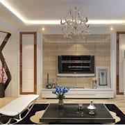 现代简约电视背景墙设计灯光设计