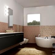 浴室装修背景墙图