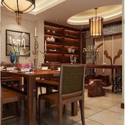 中式风格酒柜装修桌椅图