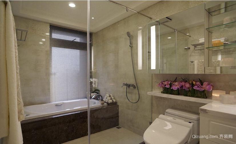 老式四合院玻璃屏风隔断浴室装修效果图