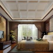 中式卧室吊顶装修效果图