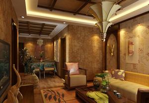 热情的东南亚风格餐厅吊顶装修效果图鉴赏