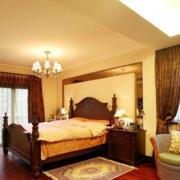 中式卧室吊顶装修灯光设计