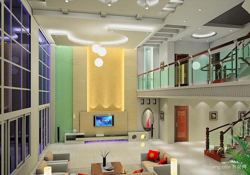 2015大气的别墅楼中楼装修效果图