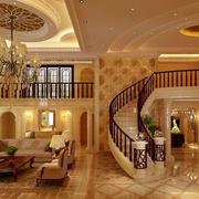 别墅楼中楼装修楼梯图