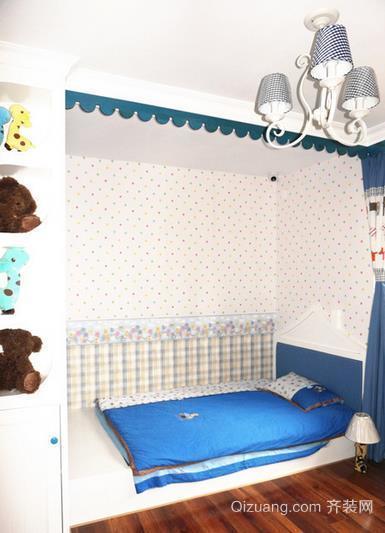 跃层小别墅地中海风格儿童房榻榻米床装修效果图