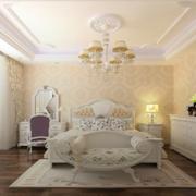 纯白色卧室设计装修效果图