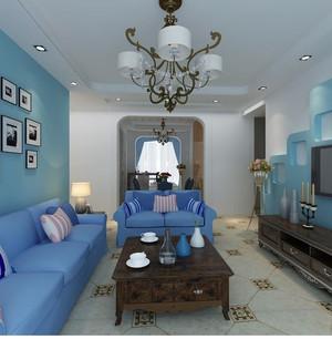 2015单身公寓地中海风格客厅装修效果图