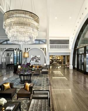 商务酒店大厅吊顶装修效果图