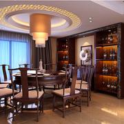 中式风格酒柜装修效果图