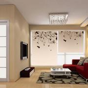 单身公寓窗帘装修飘窗图