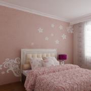 卧室背景墙装修暖色图