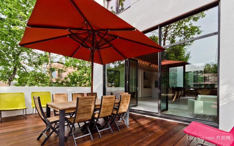 2015超大户型法式风格的露天阳台花园设计图片鉴赏