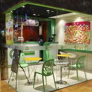 奶茶店装修桌椅图