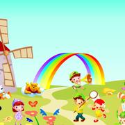 精彩的幼儿园壁画图