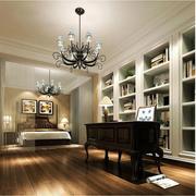美式风格书房装修吊顶图