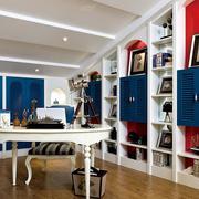书房装修家居装饰桌椅图