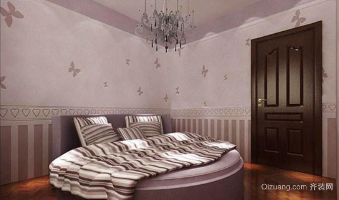 现代简约风格硅藻泥床头背景墙