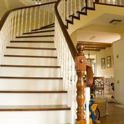 阁楼实木楼梯装修造型设计