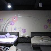 卧室硅藻泥装修图案设计