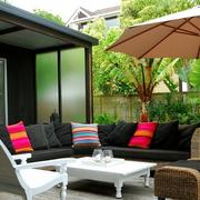 阳台花园设计背景墙图