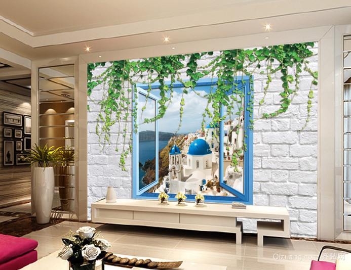 精美3D客厅立体背景墙装修效果图