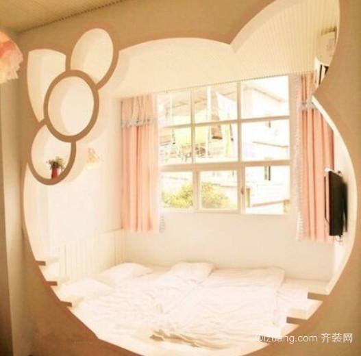 卡通风格全新可爱小卧室装修效果图