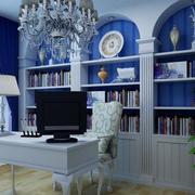 书房装修家居装饰窗帘图