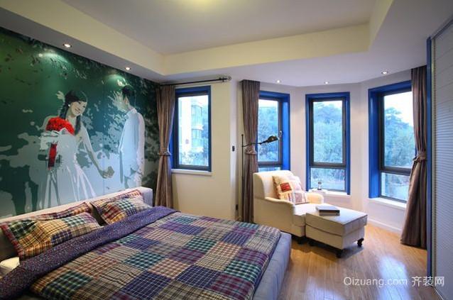 清新简约自然的地中海风格卧室装修效果图