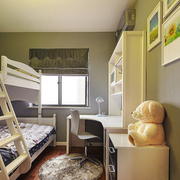 儿童卧室双层床装修灯光设计