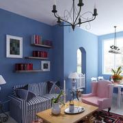 沙发背景墙装修吊顶图