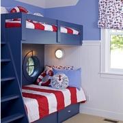 儿童卧室双层床装修模板