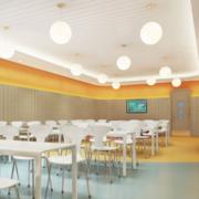 儿童主题餐厅装修灯光设计