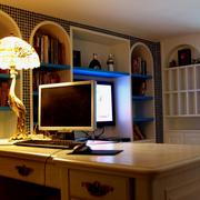地中海风格书房装修灯光设计